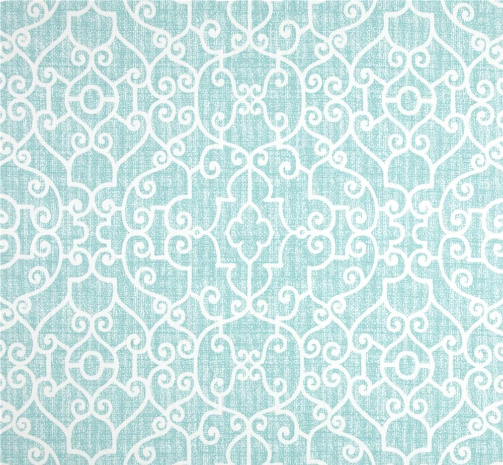 Best Designer Aqua Home Decor Fabric By The Yard Cotton Textured This Month