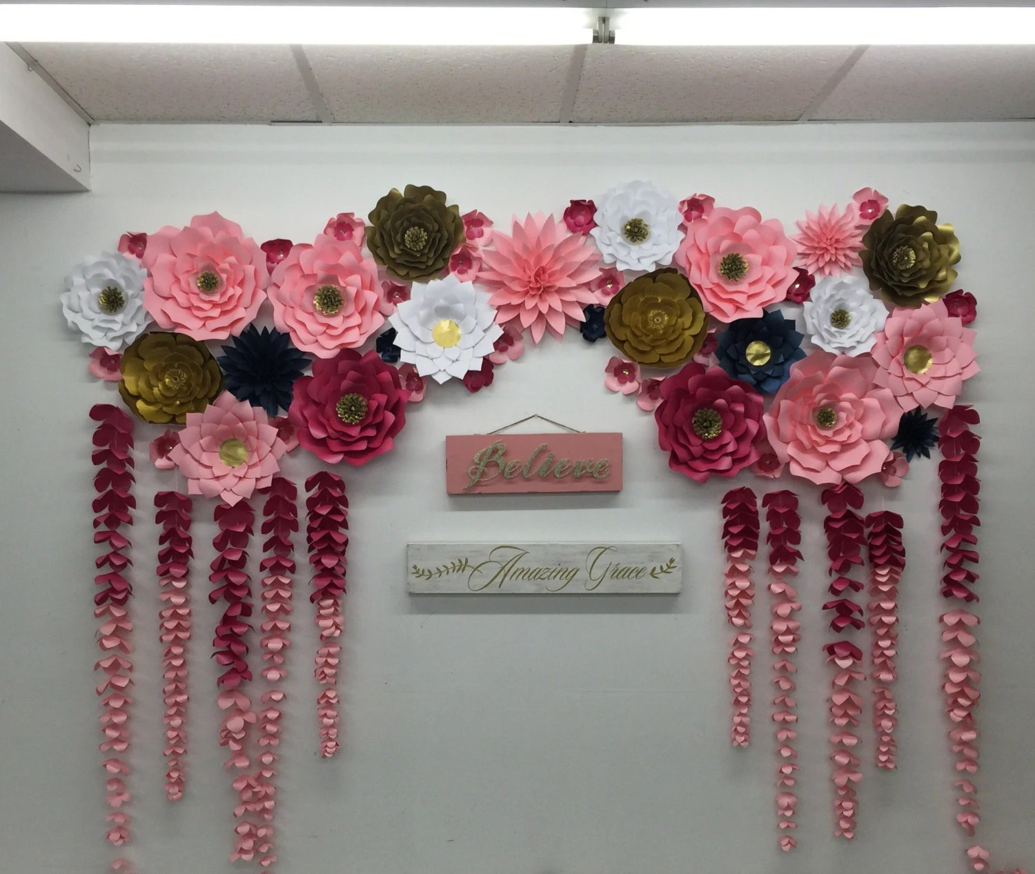 Best Large Paper Flowers Backdrop Wedding Arch Photo Booth Flower This Month