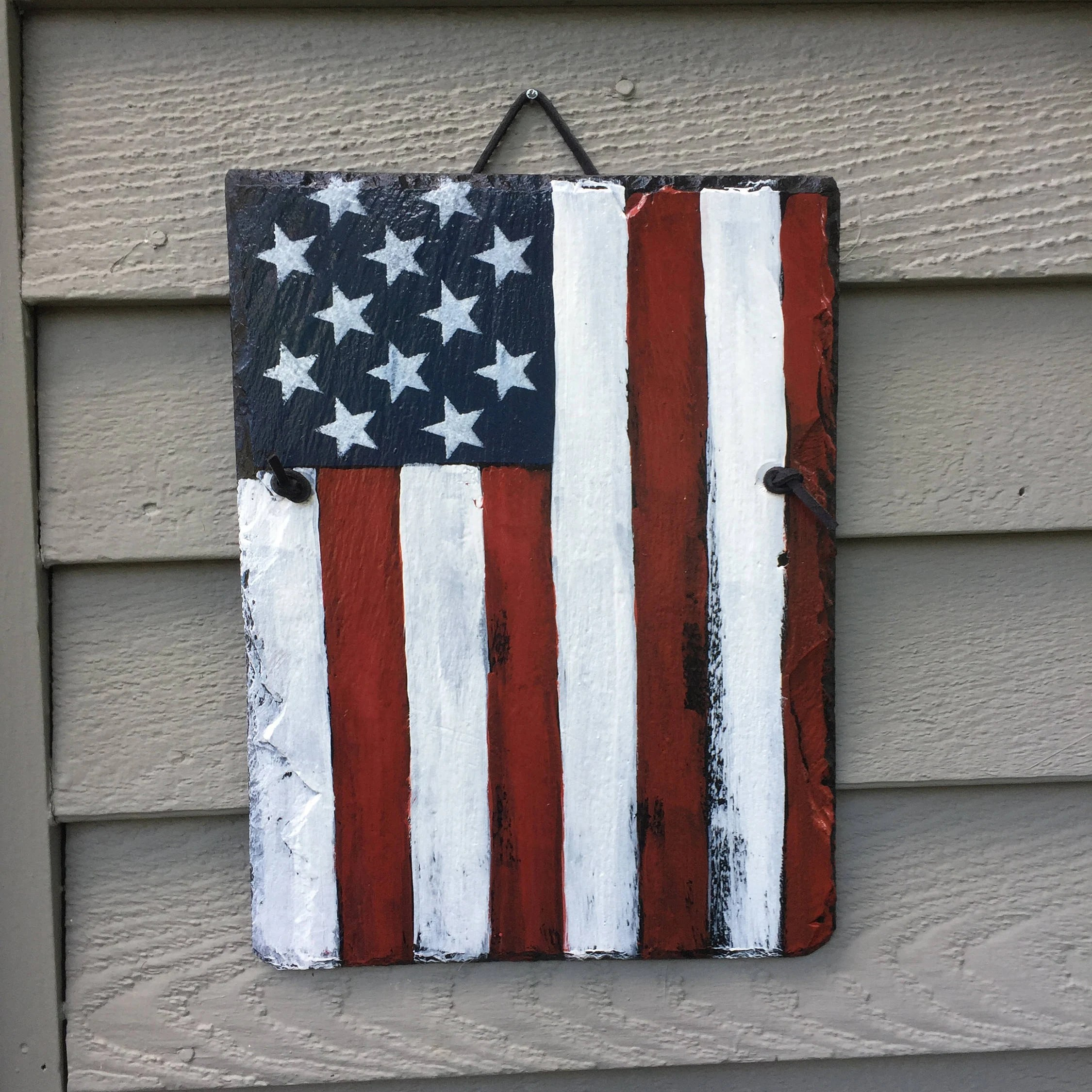 Best July 4Th Decorations American Flag Hand Painted Slate This Month