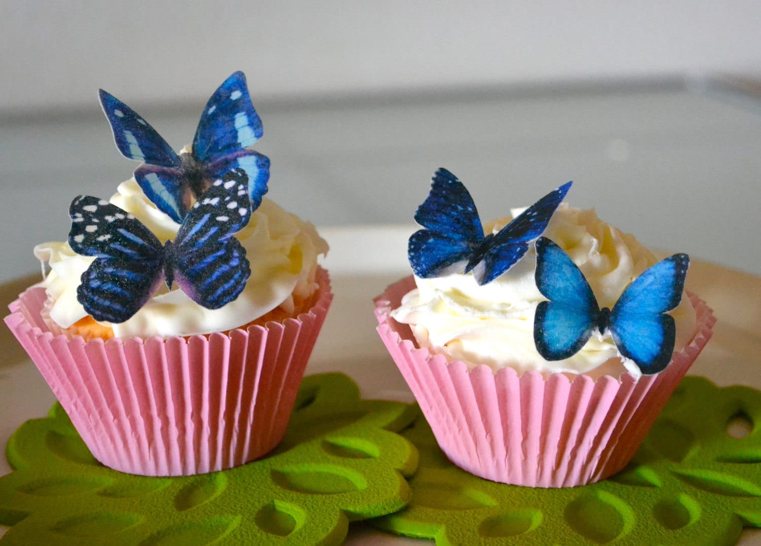 Best Wedding Cake Topper 12 Blue Edible Butterflies Edible This Month