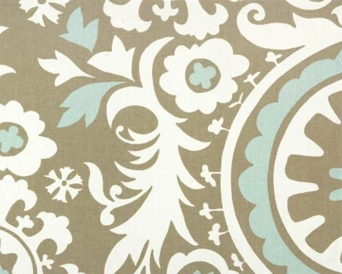 Best Premier Prints Suzani Powder Blue Home Decor Fabric By The This Month