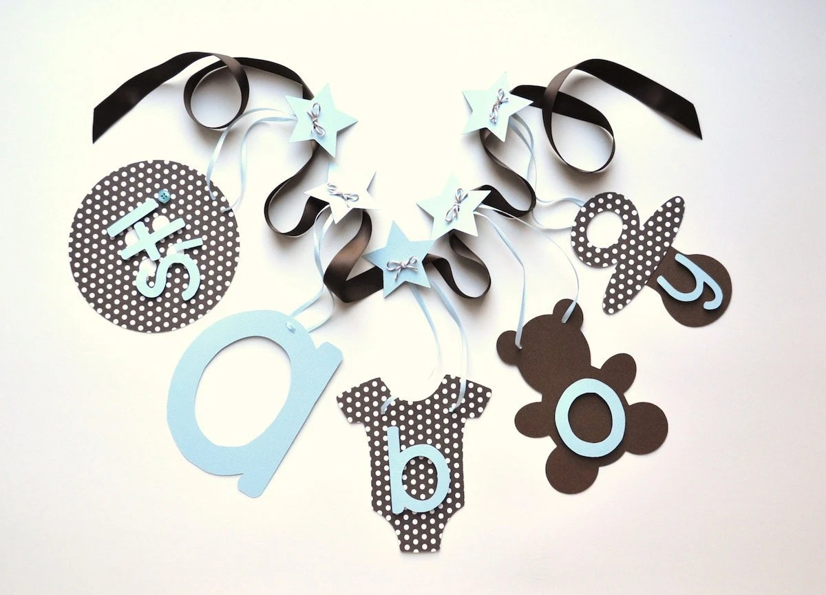 Best Blue And Brown Polka Dot Baby Shower Decorations By This Month
