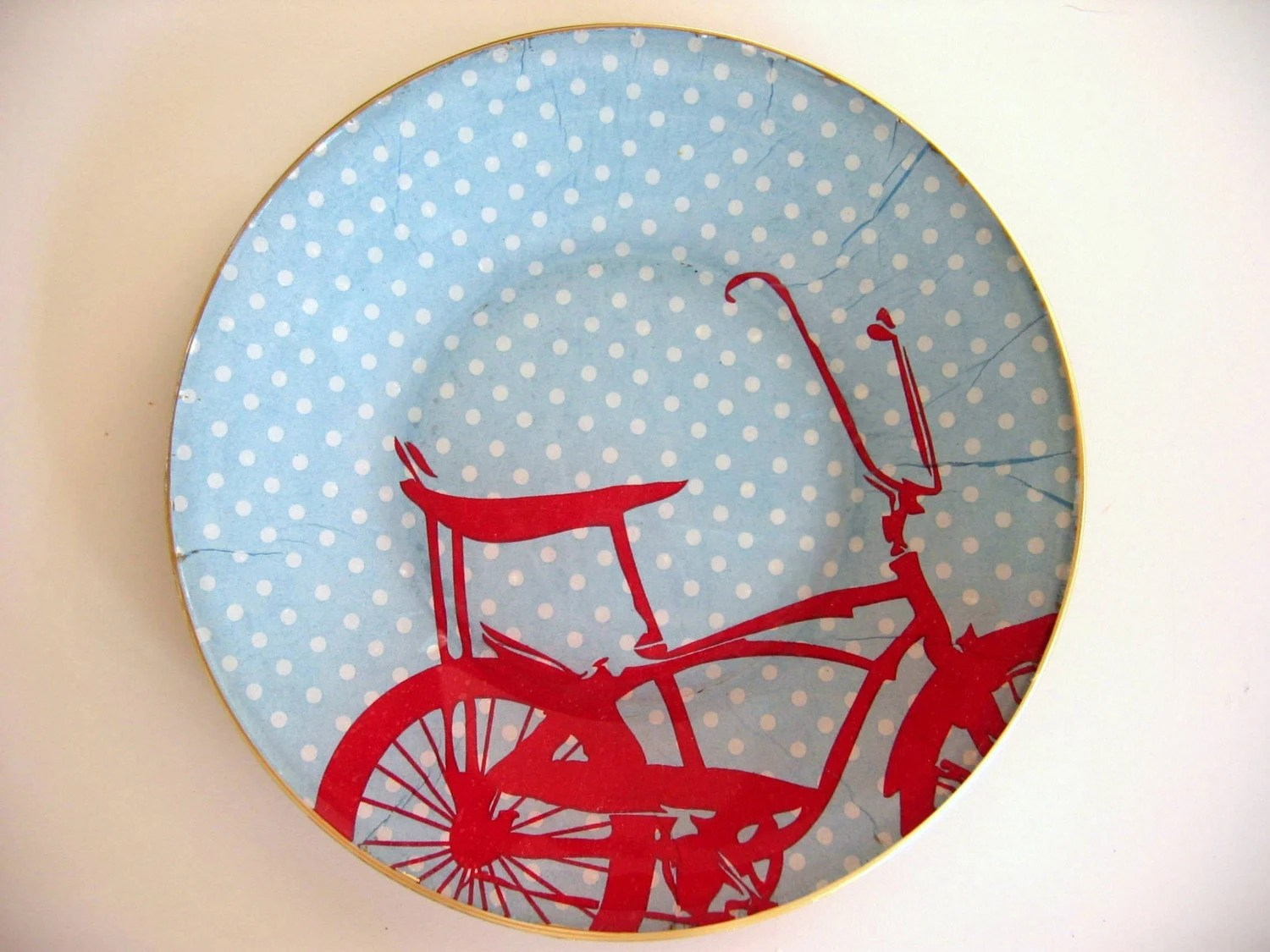 Best Decorative Glass Plate Red And Blue With By Julianawjewelry This Month