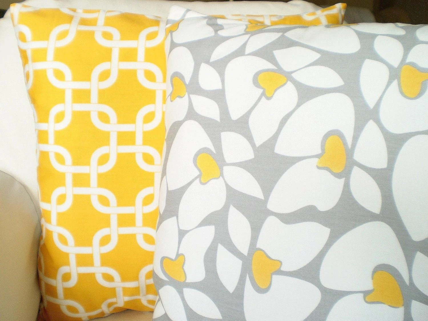 Best Yellow Gray Decorative Throw Pillow Covers By Fabricjunkie1640 This Month