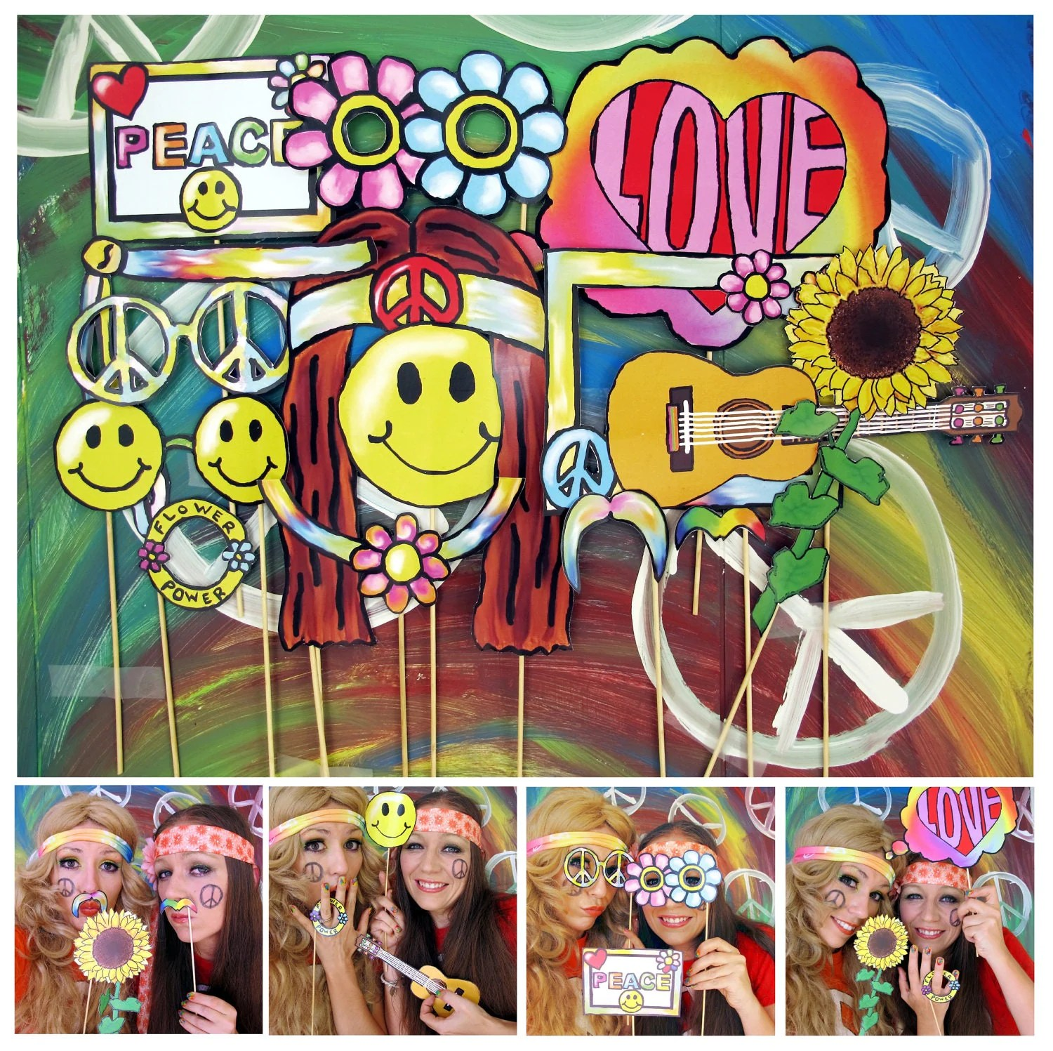 Best Hippie Photo Booth Props Perfect For A 60S Or Flower Power This Month