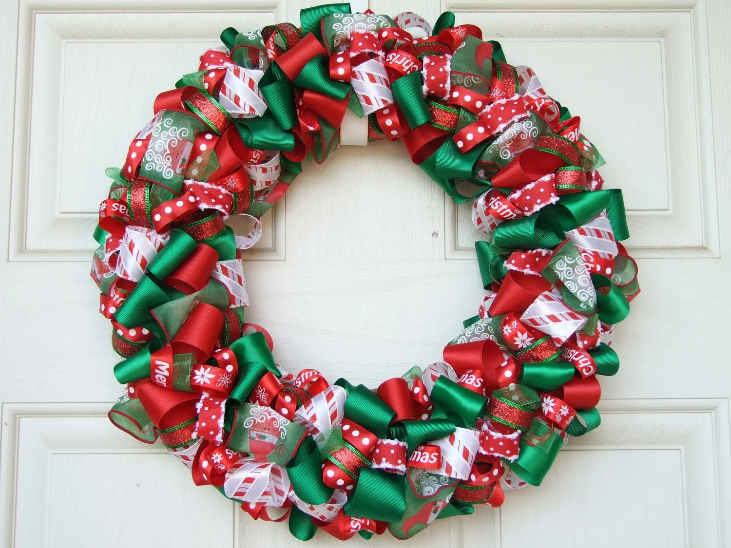 Best Christmas Ribbon Wreath Christmas Decoration Home Decor This Month