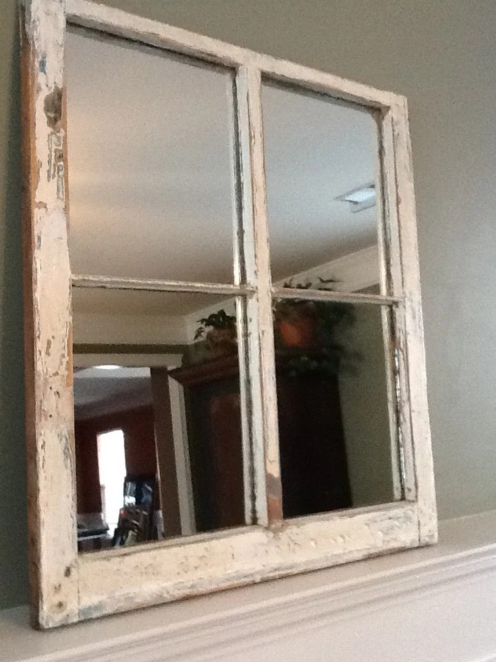 Best Distressed Rustic Window Pane Mirror This Month