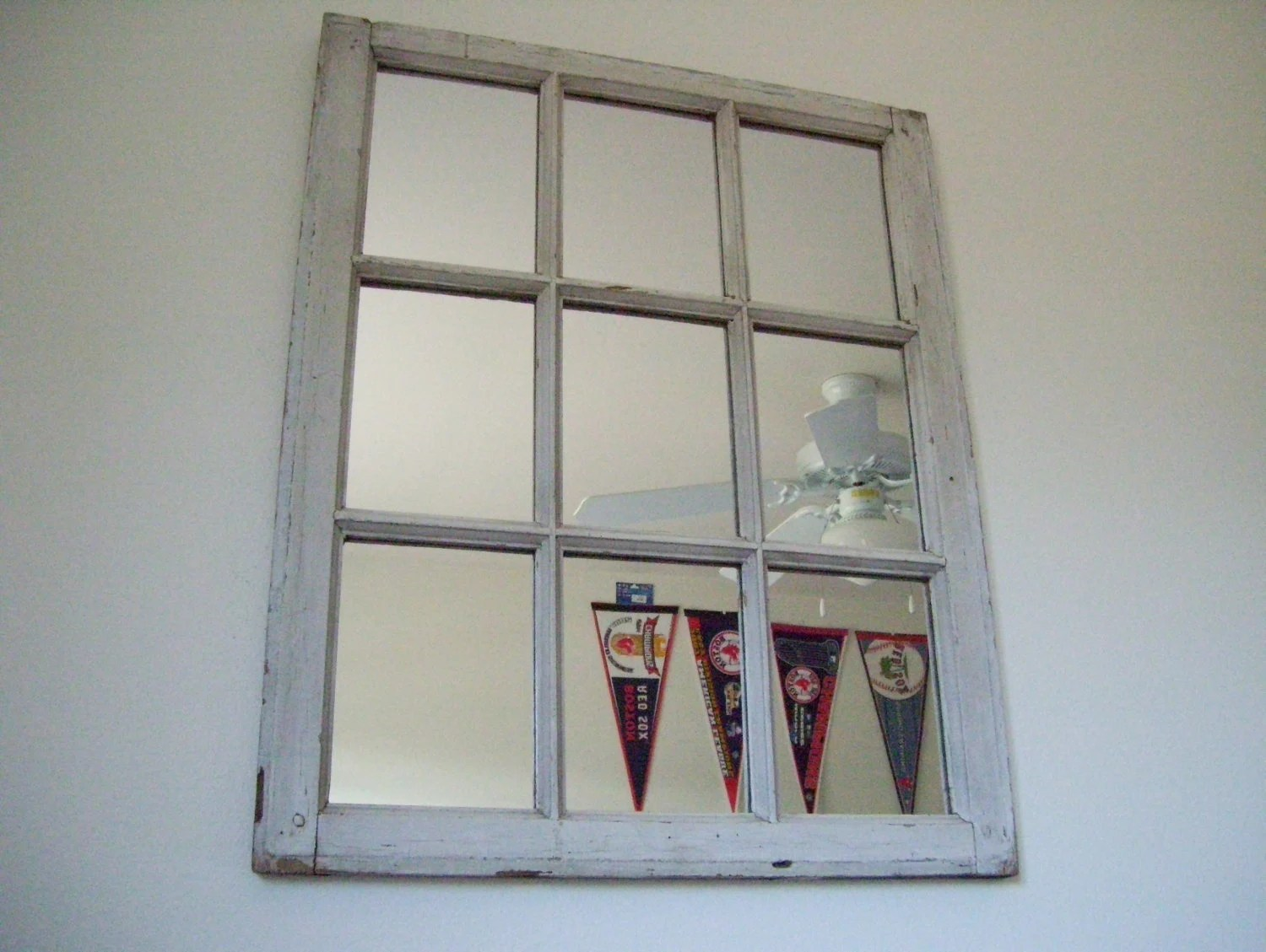 Best Decorative Rustic White 9 Pane Window Frame Mirror This Month
