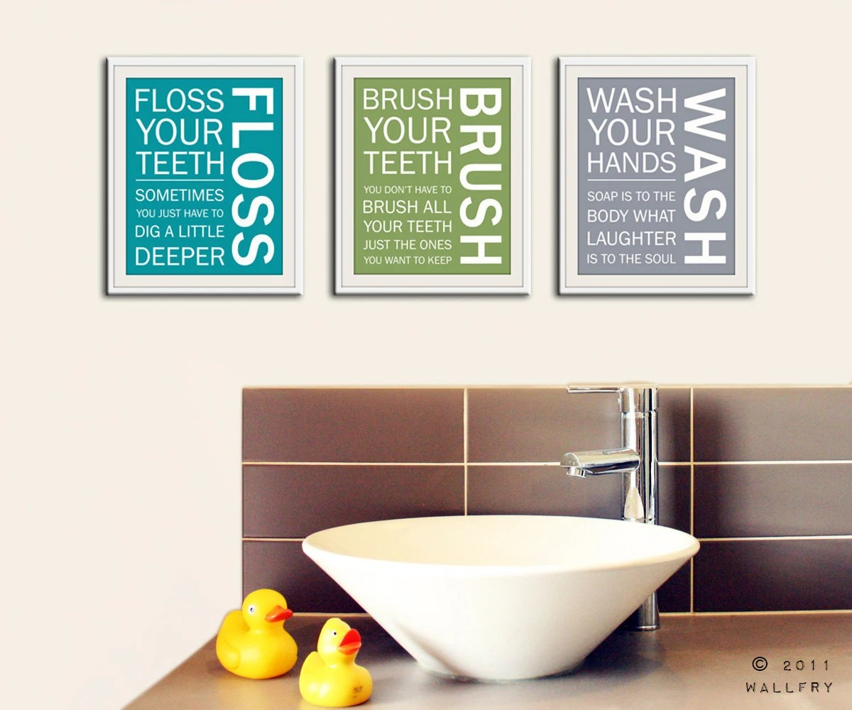 Best Kids Bathroom Wall Art Bathroom Rules Bathroom Prints Wash This Month