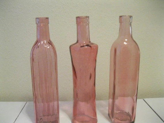 Best Pink Decorative Colored Glass Bottles Floral Bud By This Month