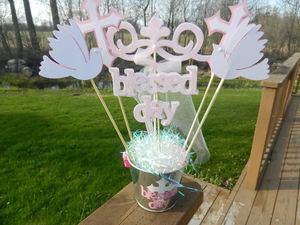Best Baptism Christening Table Decoration Centerpiece By Table4Six This Month