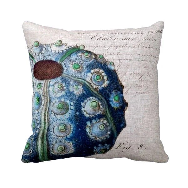 Best Pillow Cover Beach Decor Sea Urchin This Month