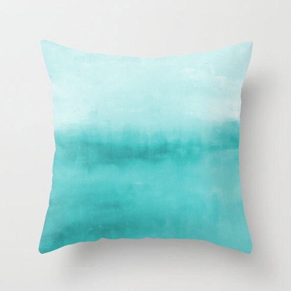 Best Abstract Throw Pillow Cover Turquoise Aqua Teal Modern Home This Month