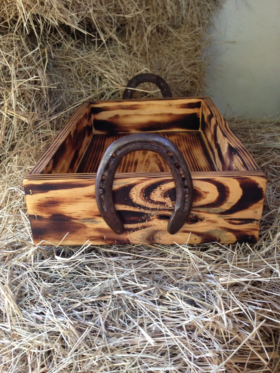 Best Wood Box With Horseshoe Handles Western Decor Cowboy Decor This Month