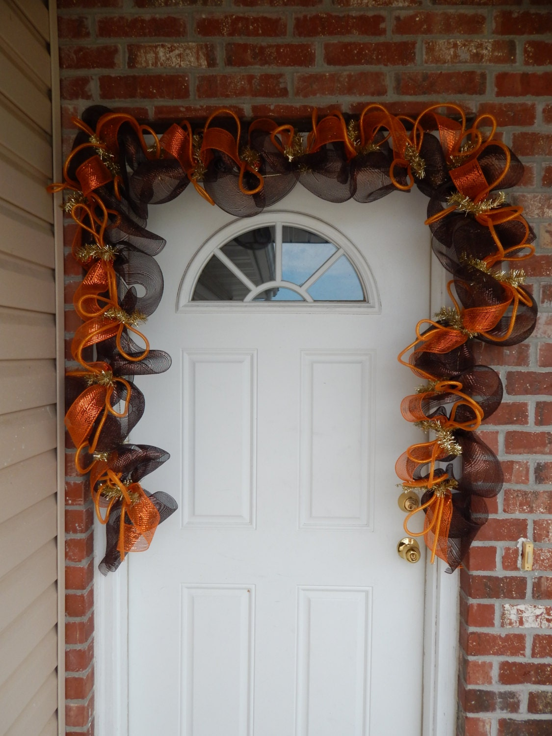 Best Fall Garland Fall Deco Mesh Garland Autumn Decorfall Decor This Month