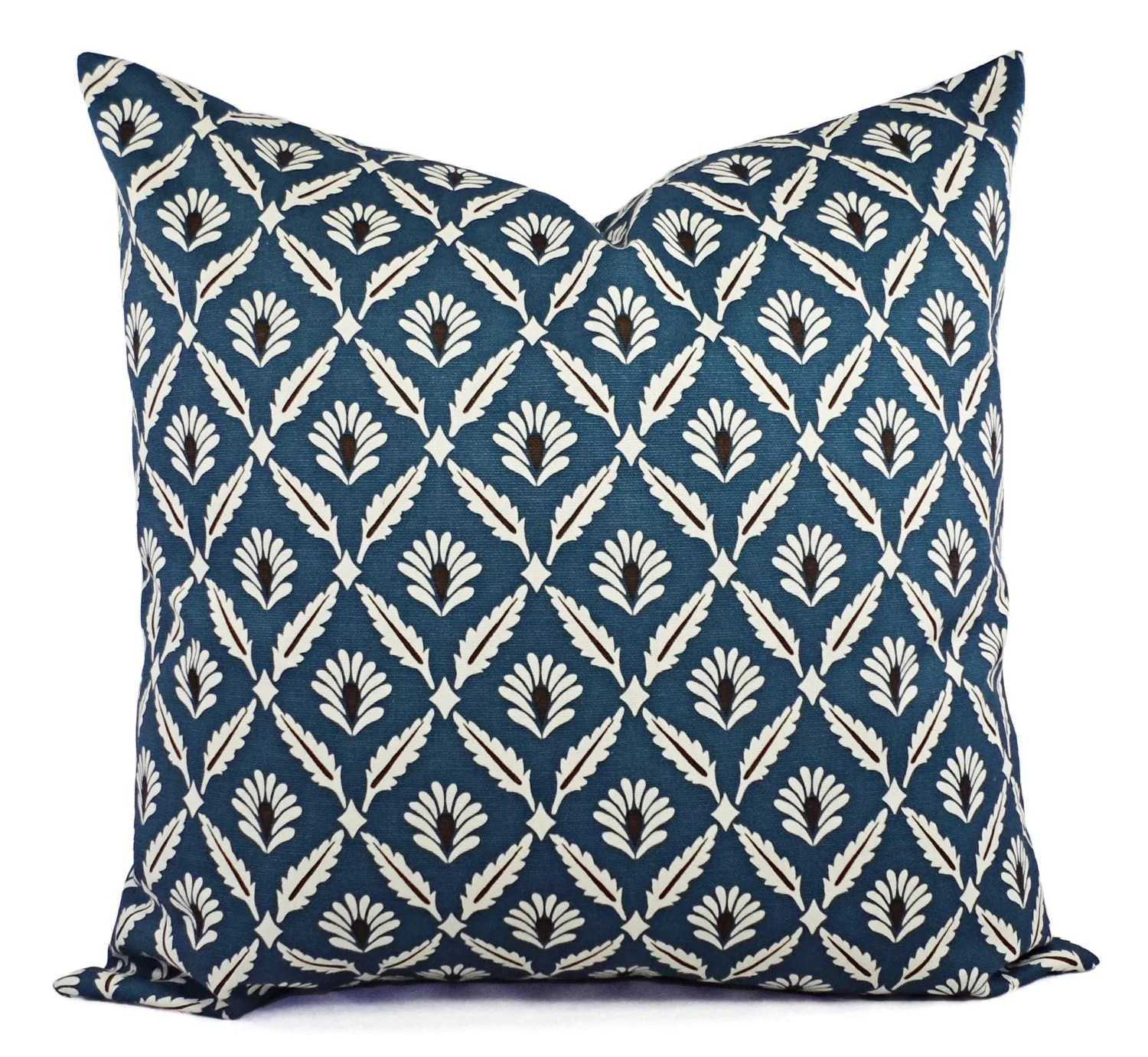 Best Two Decorative Pillow Covers Blue And Beige Blue Throw This Month