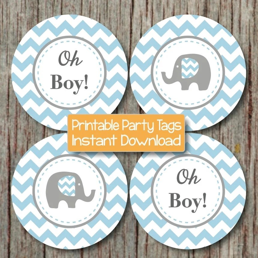 Best Oh Boy Baby Shower Decorations Elephant Cupcake Toppers Baby This Month