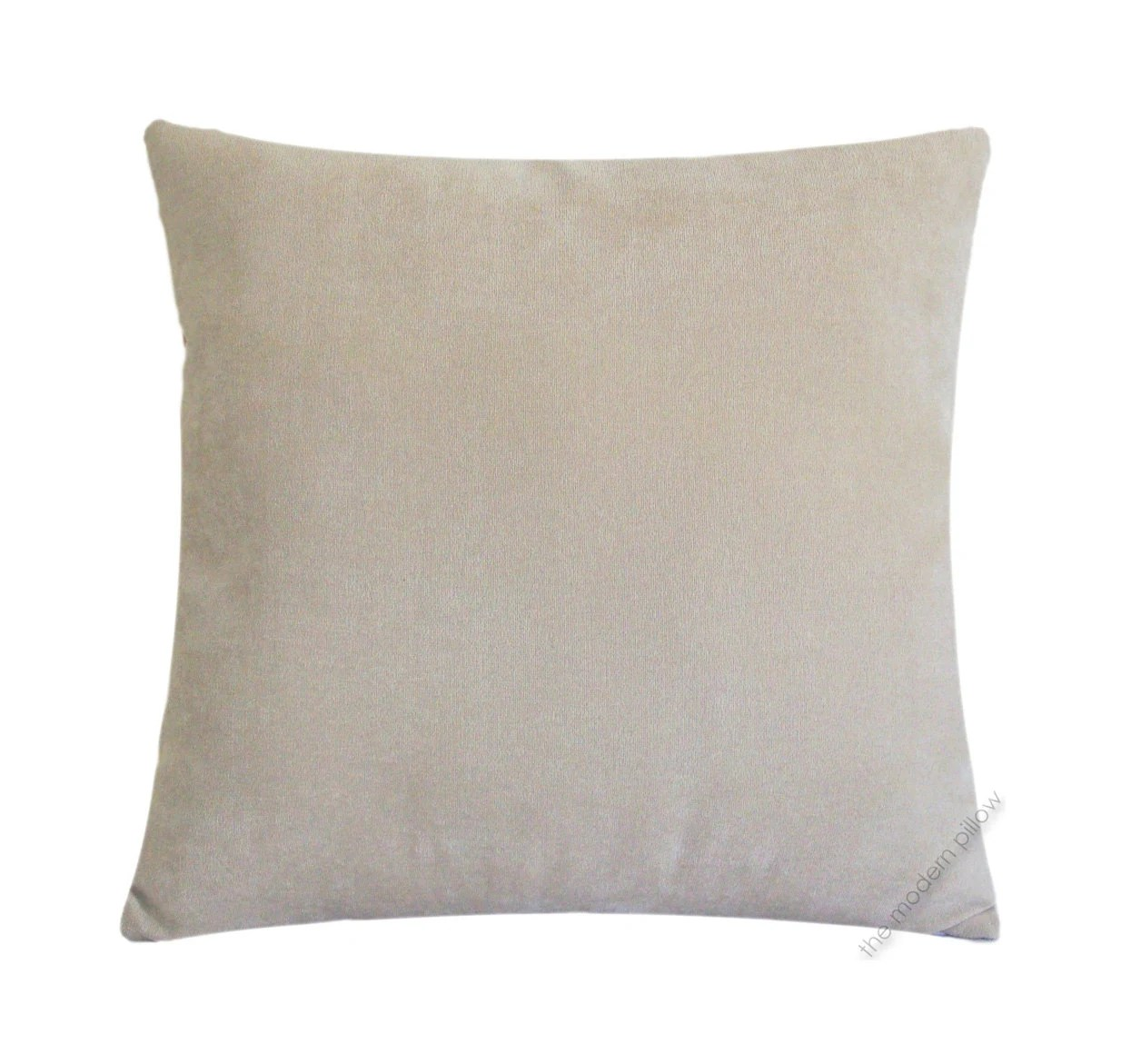 Best Beige Velvet Solid Decorative Throw Pillow Cover Pillow Case This Month