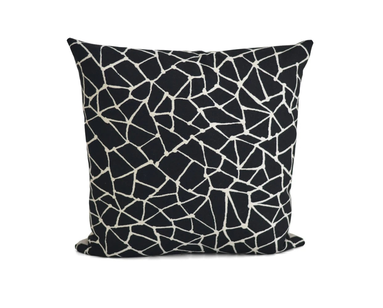 Best Black Off White Decorative Pillow Linen Throw Pillow This Month