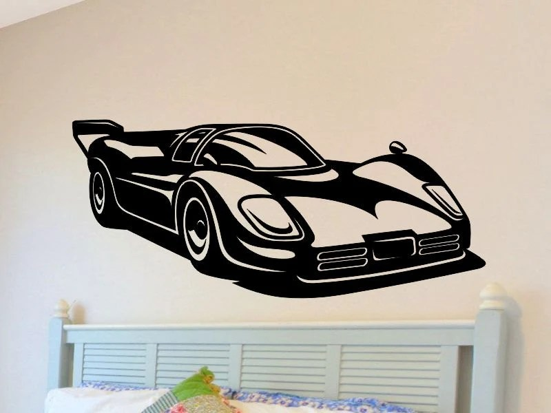 Best Race Car Wall Decal Boys Bedroom Wall Decor Man Cave Racecar This Month
