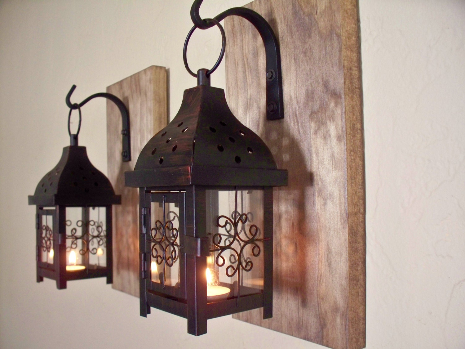 Best Lantern Set Wall Decor Wall Sconces Housewarming Gift This Month