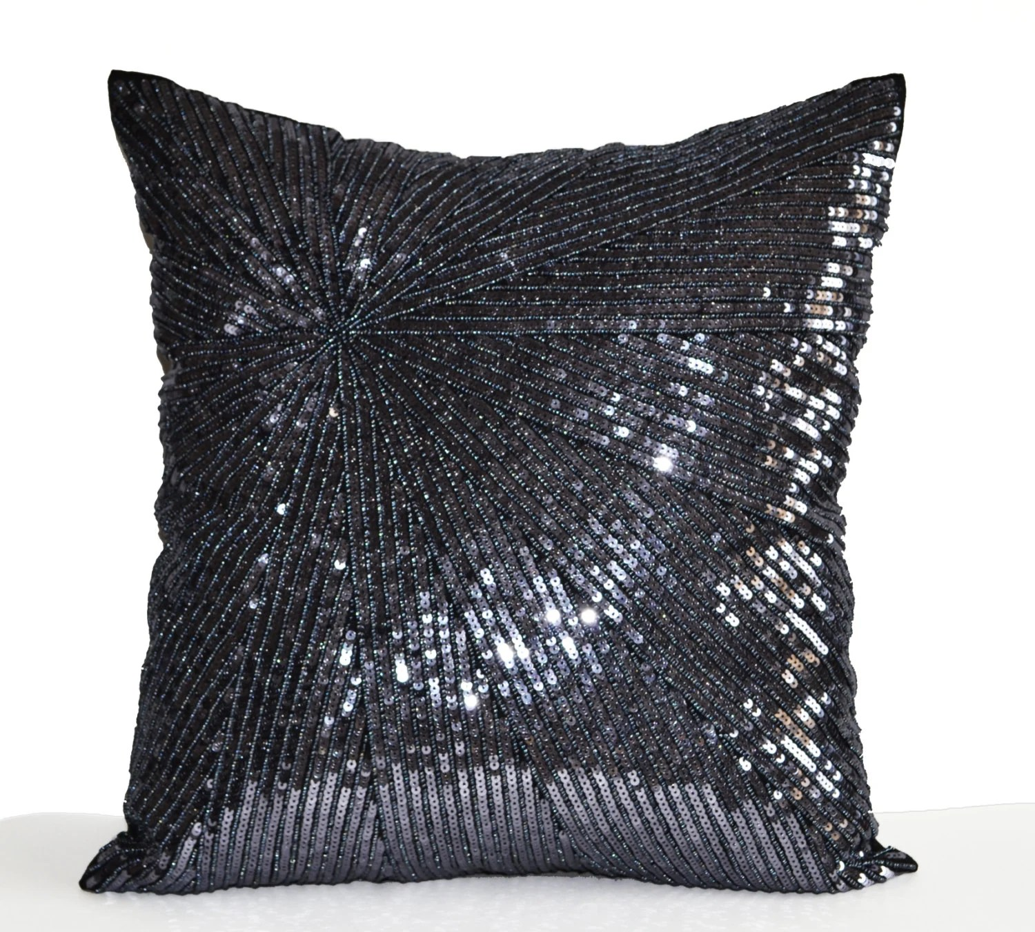 Best Decorative Throw Pillow Cover Silver Grey Sequin Pillow Case This Month