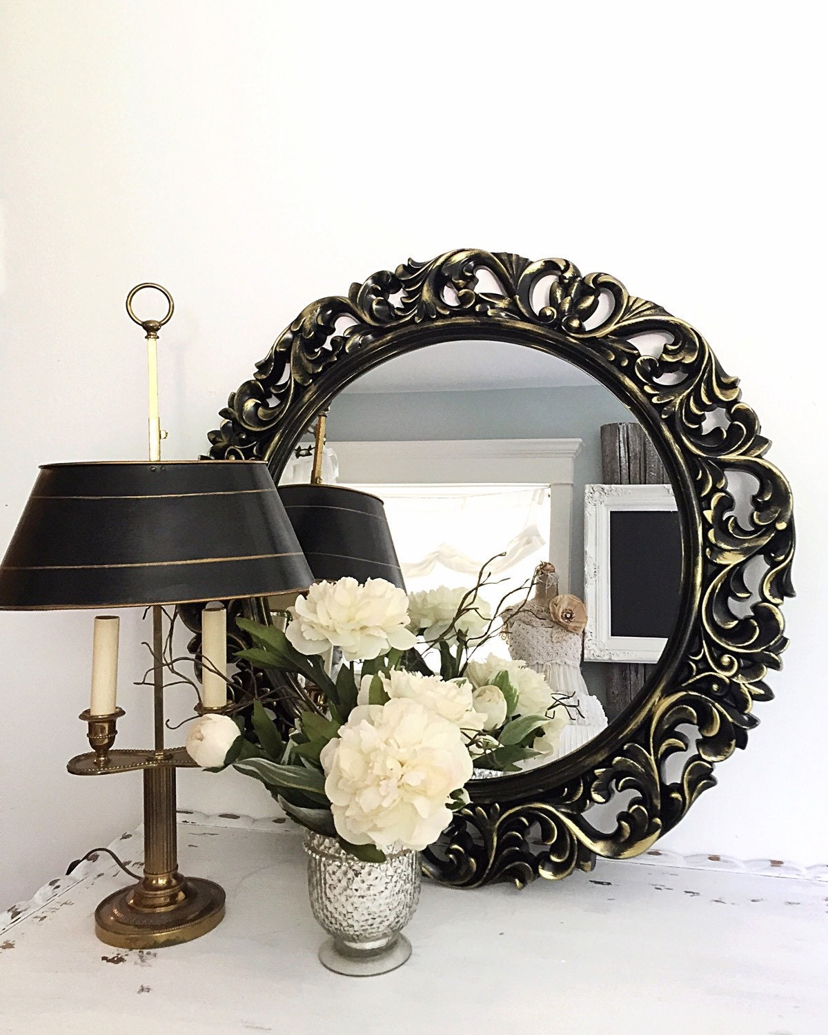 Best Black Gold Baroque Mirror Large Vintage Style Decorative Wall This Month