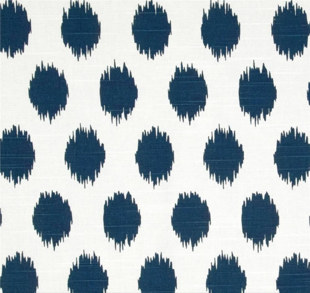 Best Ikat Dots Navy Blue Designer Home Decor Fabric By The Yard This Month