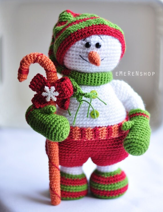 Best Items Similar To Super Sale Christmas Snowman Crochet This Month