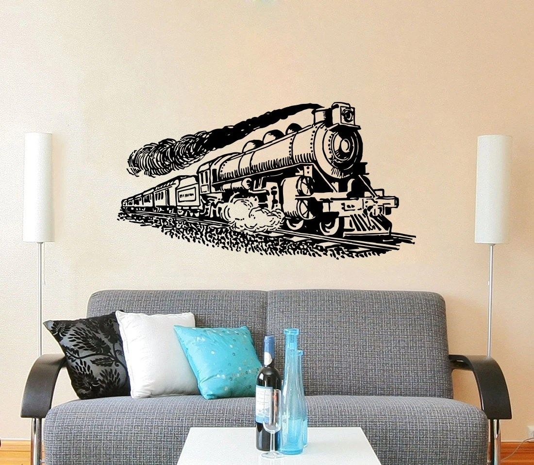 Best Train Wall Decal Vinyl Stickers Decals Art Home Decor Mural This Month