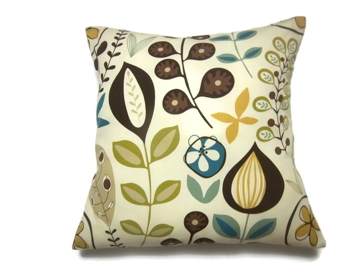 Best Decorative Pillow Cover Modern Floral Yellow Gold Brown Cream This Month