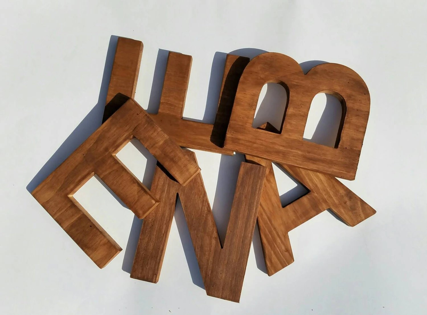 Best Wooden Letters For Nursery Decorative Letter Rustic Wooden This Month