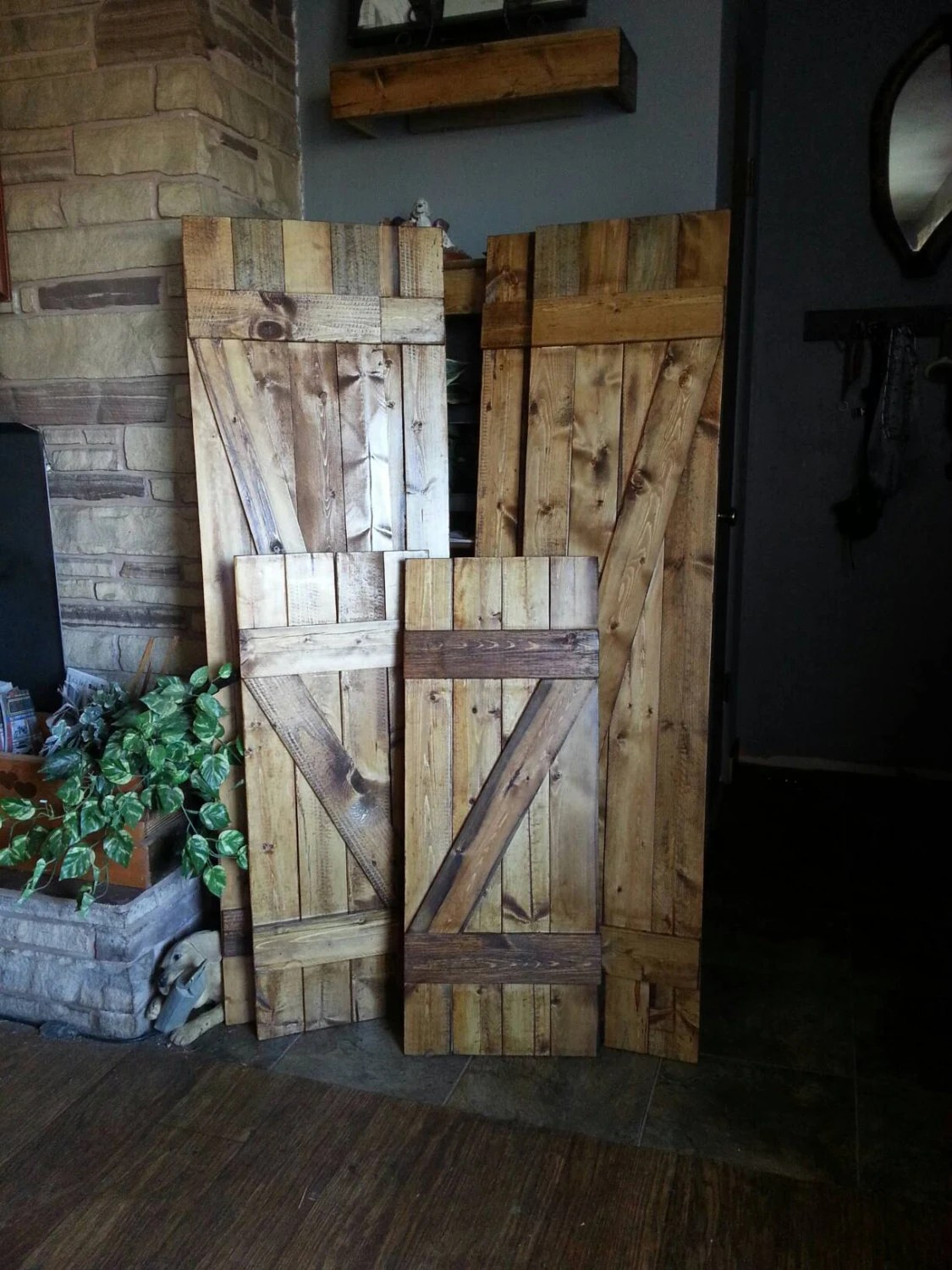 Best Z Bar Rustic Wood Shutters 24 Decorative Shutters This Month