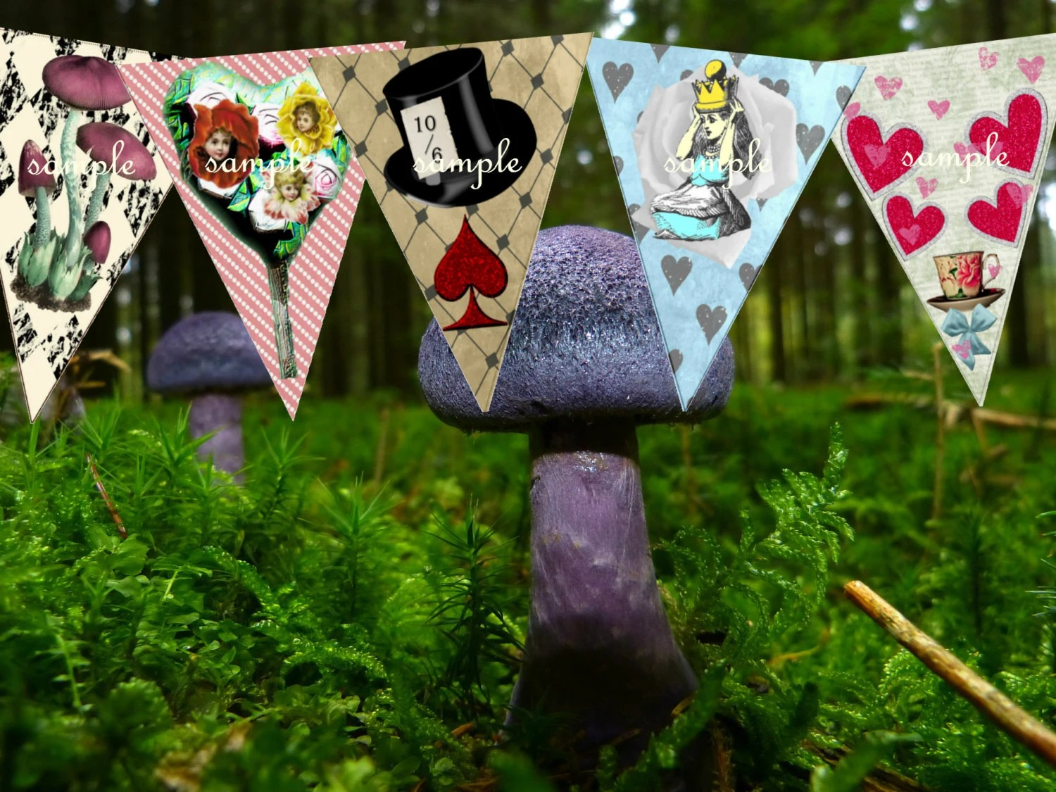 Best Alice In Wonderland Decorations Party Bunting Alice In This Month