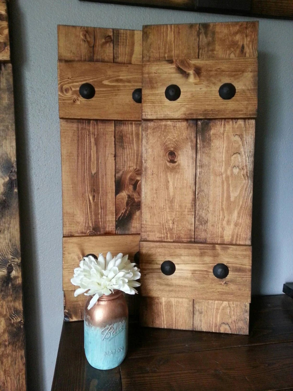 Best Rustic Wood Shutters With Clavos Decorative Shutters This Month