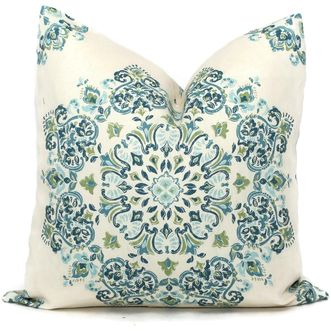 Best Decorative Pillow Covers Blue Green Aqua Medallion Toss This Month