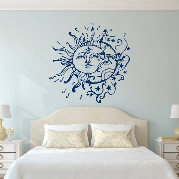 Best Sun Moon Stars Wall Decals For Bedroom Sun And Moon Wall This Month