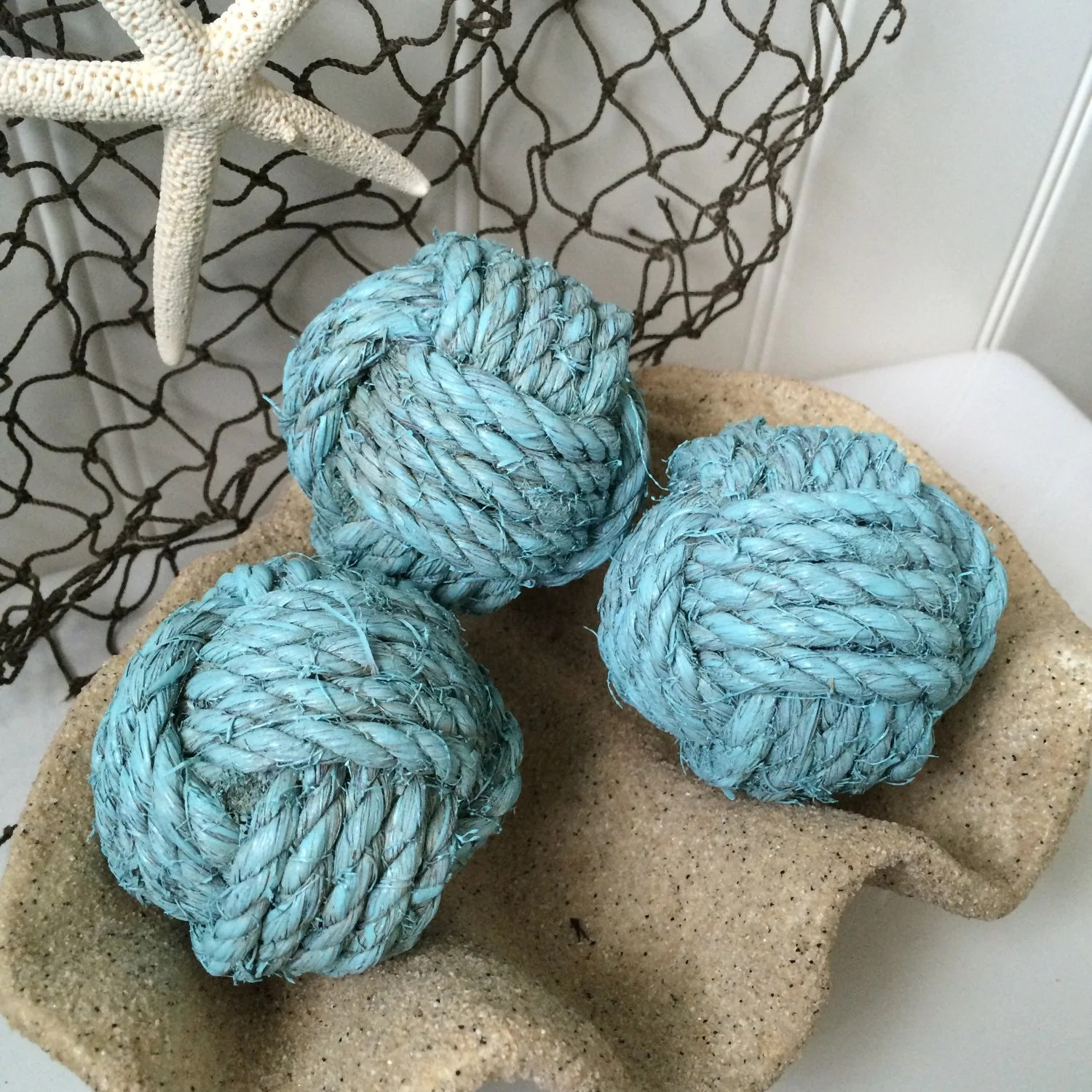 Best Nautical Rope Knot B*Lls 3 Decorative Nautical Blue Bowl This Month