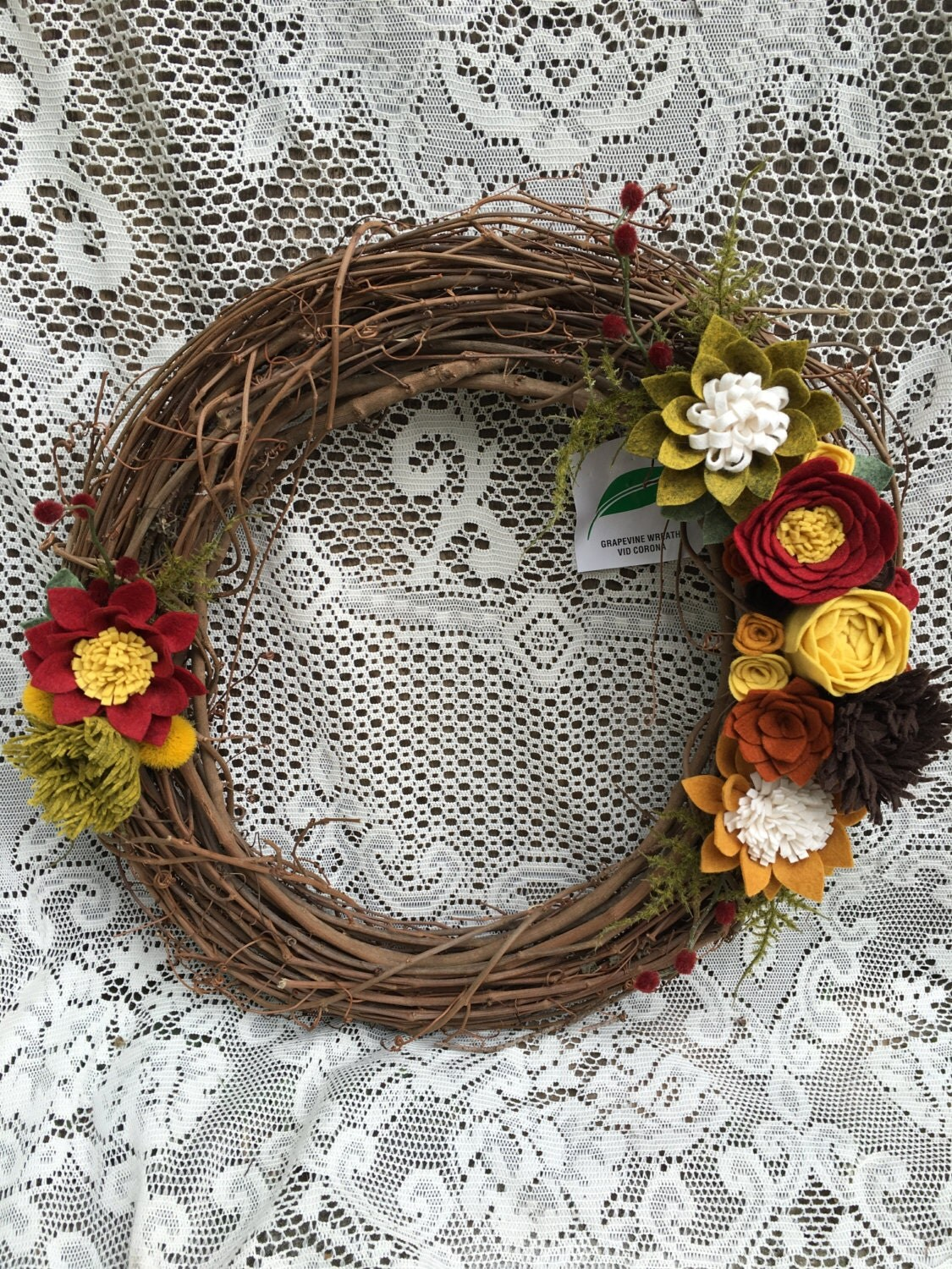 Best Fall Wreath Felt Flower Wreath Fall Decor Home Decor Front This Month