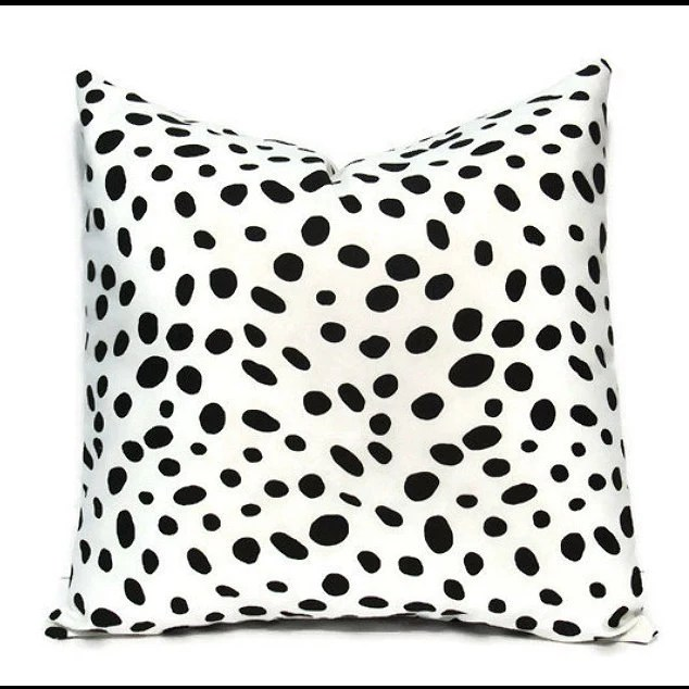 Best Black White Pillow Cover Decorative Pillow Black Dalmatian This Month