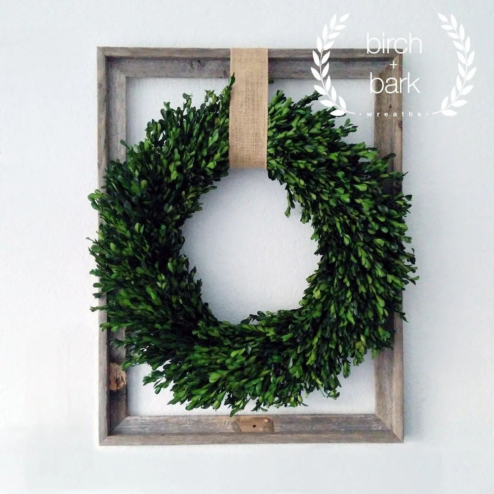 Best Home Decor Preserved Boxwood Wreath Wood Frame Wreath This Month