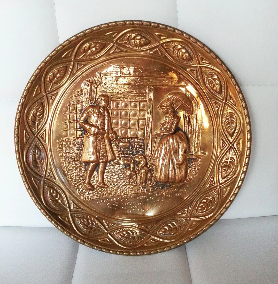 Best Vintage Brass Plate Wall Art Wall Hanging Wall Decor Wall This Month