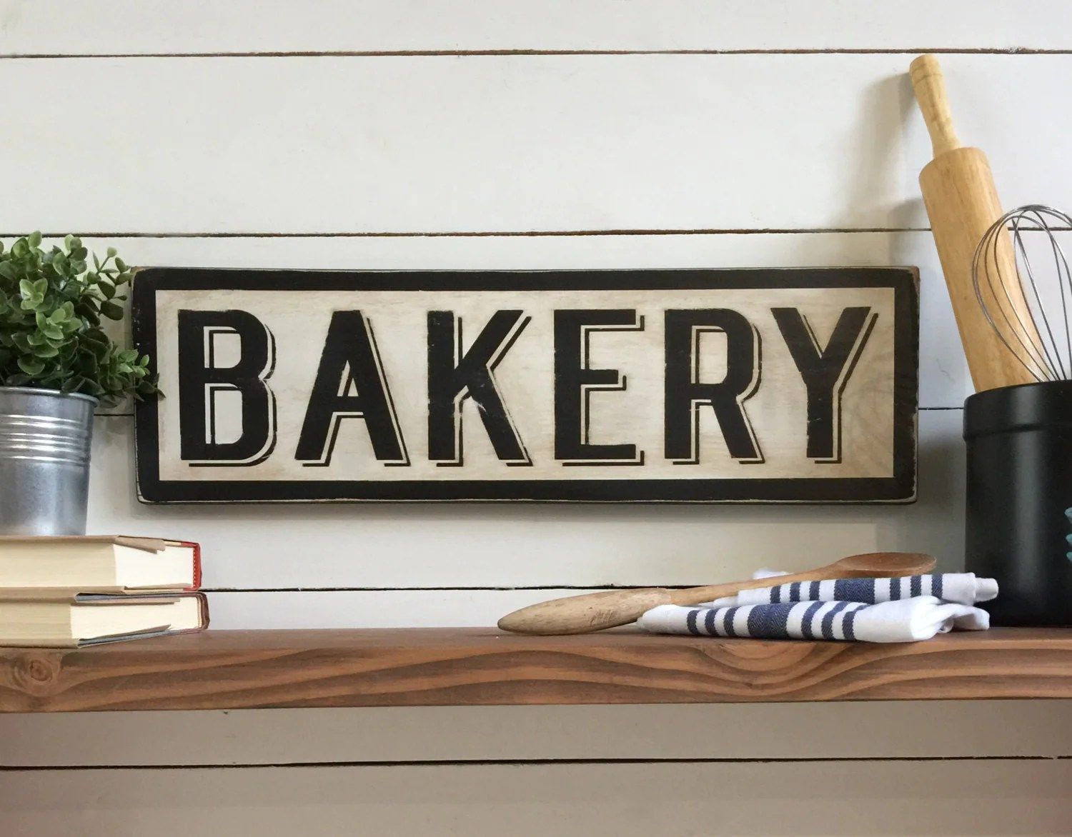Best Bakery Sign Wood Sign Farmhouse Decor Kitchen Sign This Month
