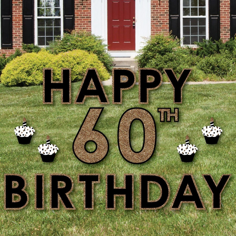 Best 60Th Birthday Yard Sign Outdoor Lawn Birthday Decorations This Month