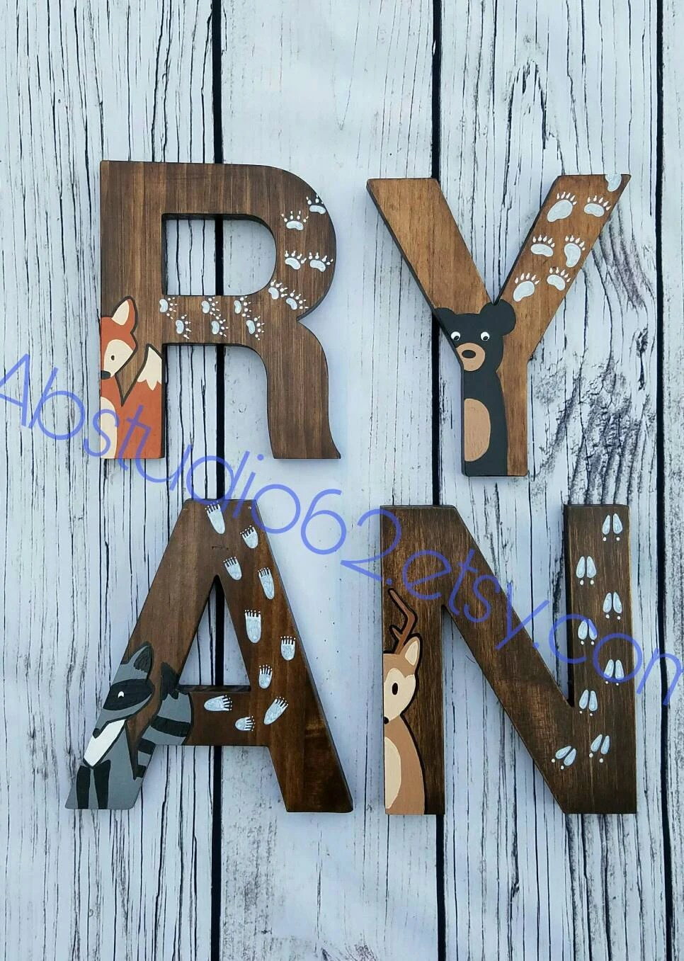 Best Wooden Letters For Nursery Woodland Nursery Decor Hand This Month