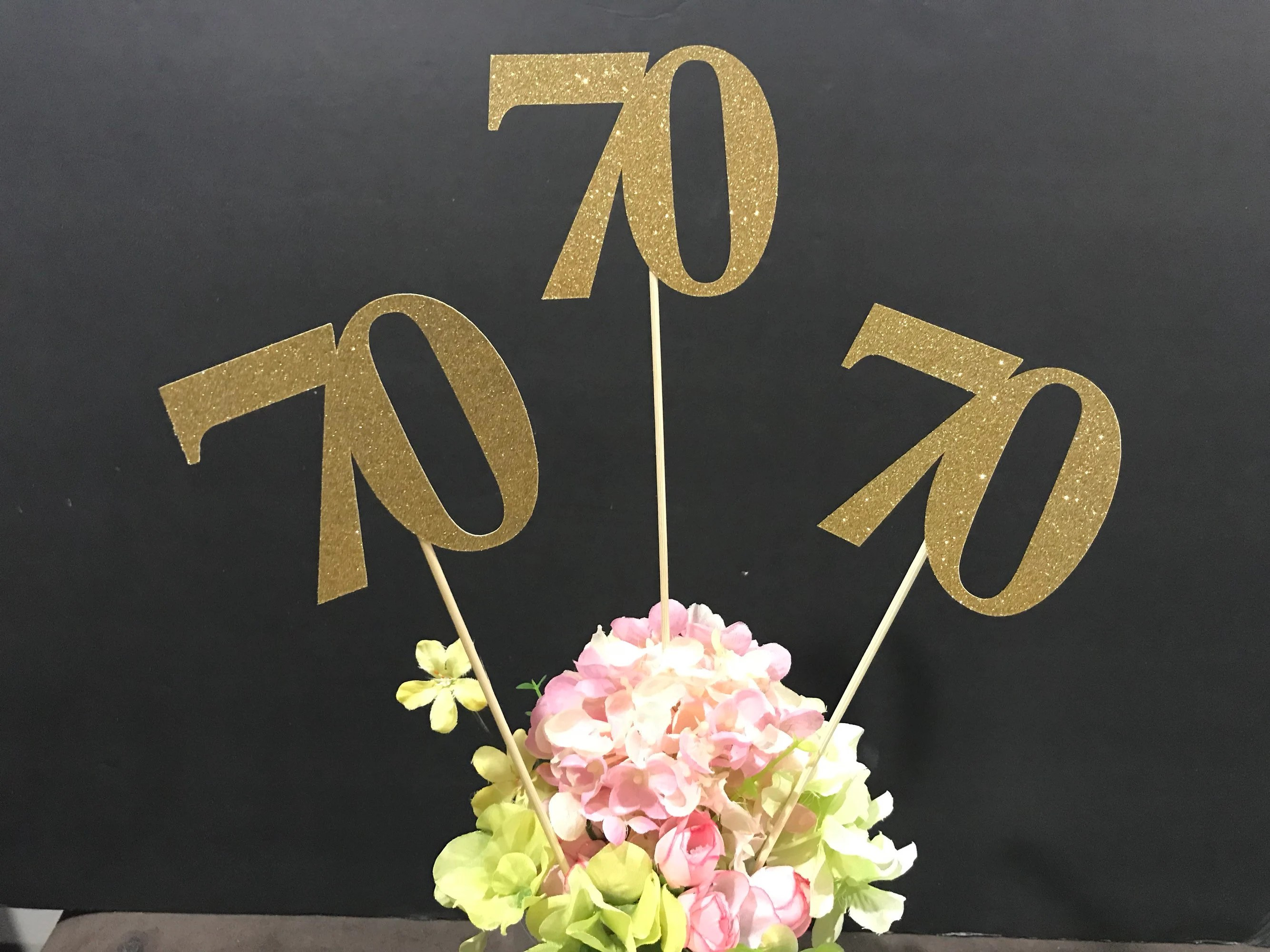 Best 70Th Birthday Decoration 70Th Birthday Centerpiece Sticks This Month