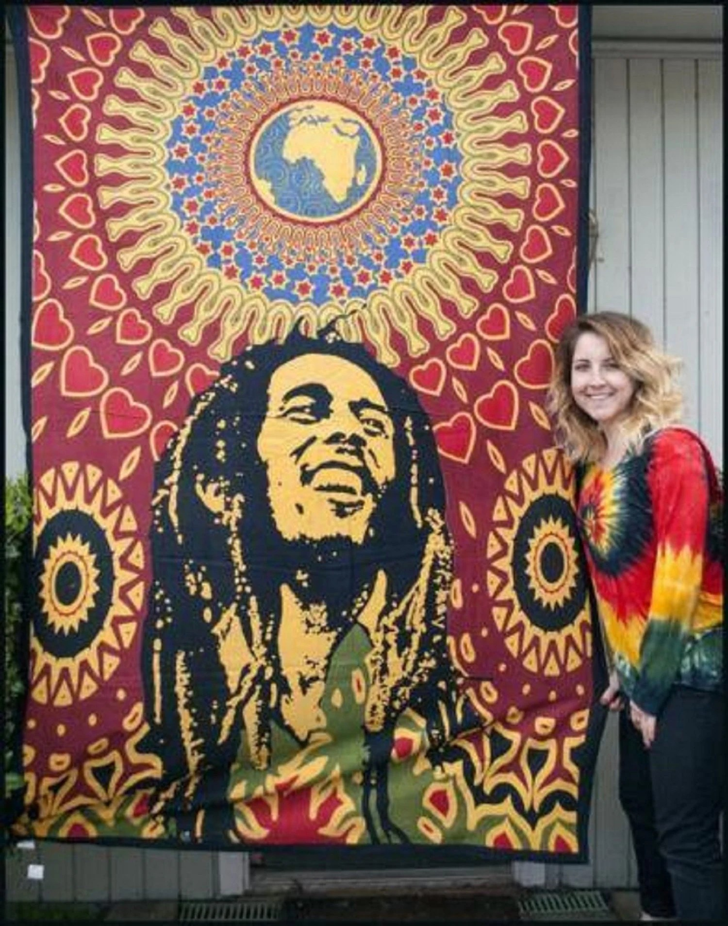 Best Bob Marley Wall Decor Hippie Tapestries Bohomein Hippy Etsy This Month
