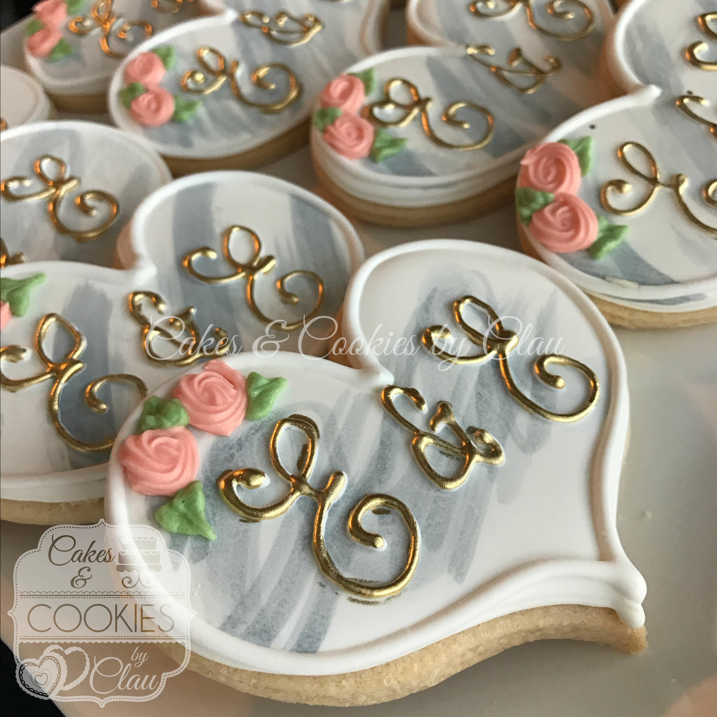 Best Monogram Wedding Engagment Bridal Shower Hand Decorated Etsy This Month