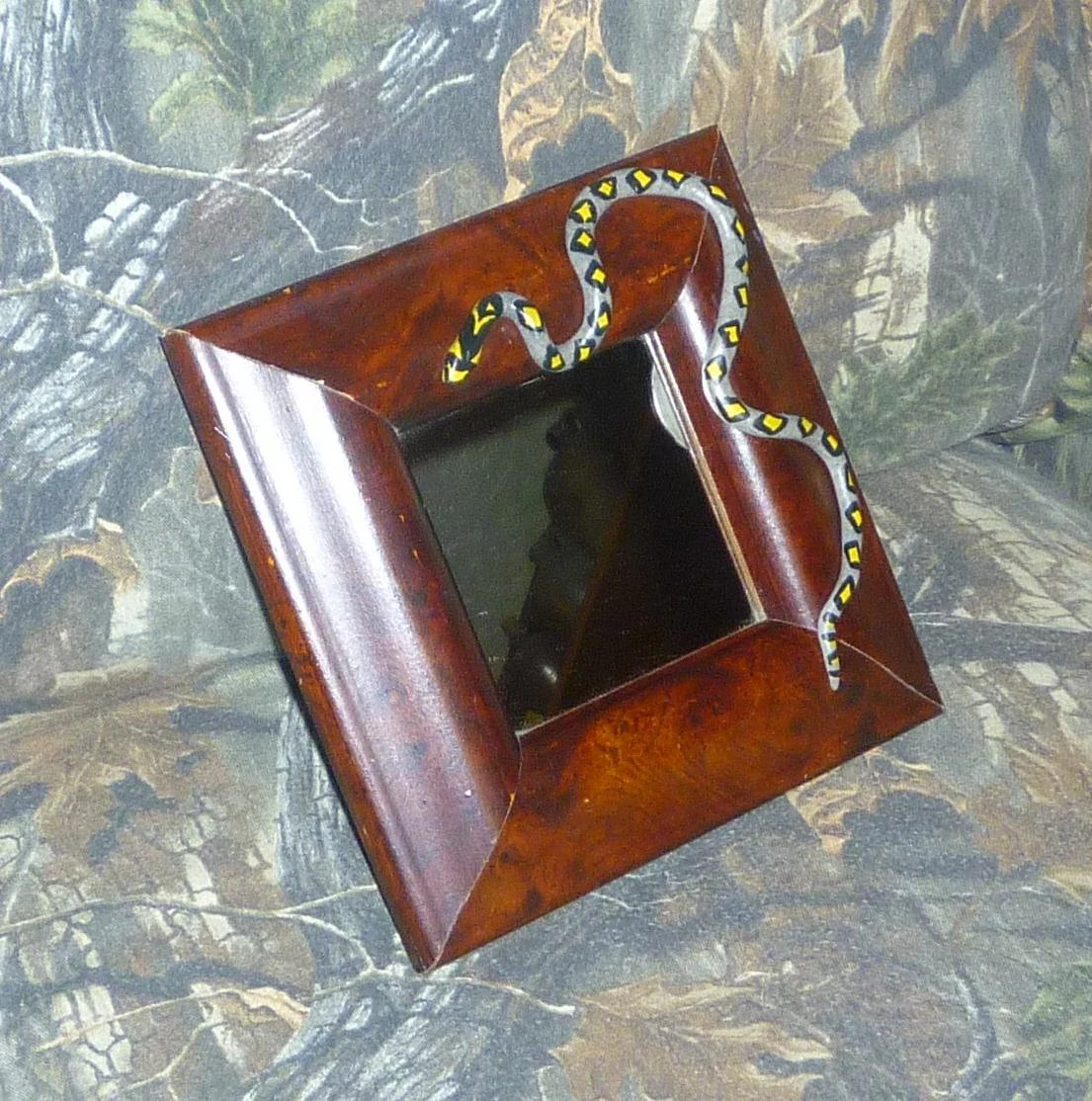 Best Home Decor Mirror Embellished With Mandarin Rat Snake Ooak This Month