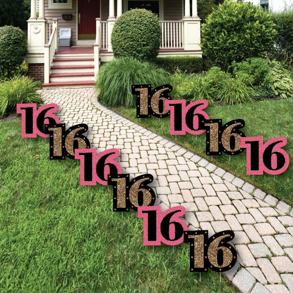 Best 16Th Birthday Lawn Decorations Outdoor Birthday Party Etsy This Month